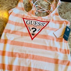Guess Pink Flamingo Bodysuit with Iconic Logo